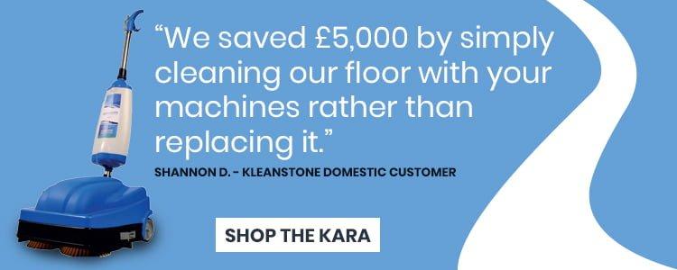 KleanSTONE Kara Floor Cleaning Machine - Quarry Tile Floor Cleaning - KleanSTONE