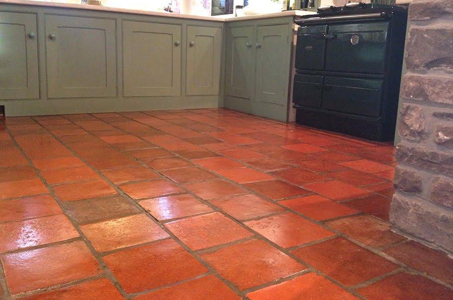 Quarry Tile Kitchen Floors - Cleaning Quarry Tiles - KleanSTONE