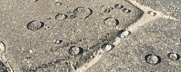 Liquid on Stone Floor - Stone Sealing - Penetrating Impregnating Stone Sealer - KleanSTONE