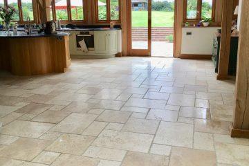 Natural Travertine Kitchen - Travertine Kitchen Floor Tiles - KleanSTONE Travertine Floor Cleaner