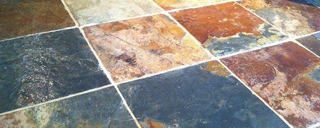 Slate Floor - Coloured Blue Slate Floor Tiles - KleanSTONE Floor Cleaning