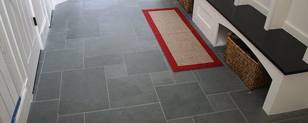 Slate Floor - Slate Hallway Tiles - Black Slate - KleanSTONE Slate Floor Cleaning