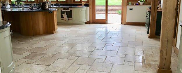 Travertine Kitchen Floor - Travertine Floor Tiles - KleanSTONE Travertine Floor Cleaning