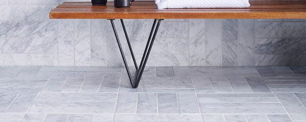 Marble Floor - Carrara Honed Marble - Marble Bathroom Floor Tiles - KleanSTONE Stone Floor Cleaning