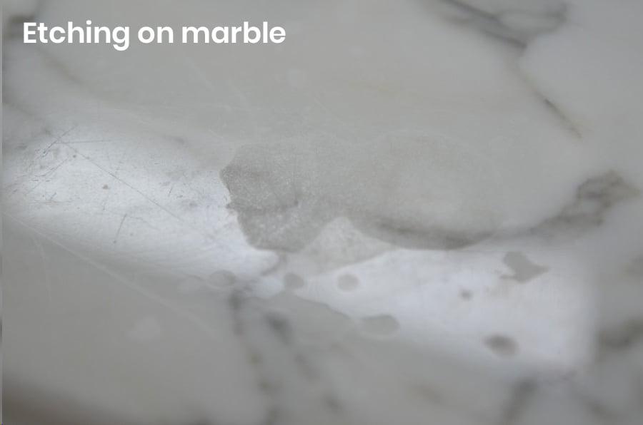 Marble Floor Etching - Marble Staining - Marble Sealing - KleanSTONE Stone Floor Cleaning