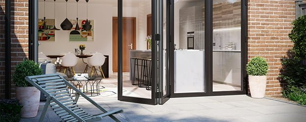 Patio Cleaning - Seamless Patio Kitchen Transition - Bifold Doors - Patio Cleaning - KleanSTONE Patio Cleaning